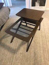 Two-tiered side table (midcentury aesthetic) New York, 10019
