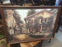 brown wooden framed painting of house Palmdale, 93550