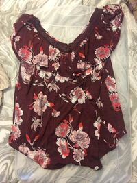women's black and pink floral spaghetti strap top Long Beach, 39560