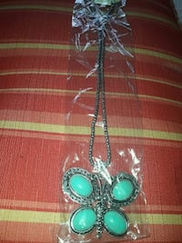 silver and teal butterfly necklace Palm Harbor, 34684