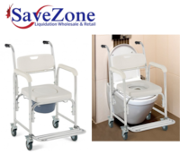 New- Medical Commode Toilet Seat Shower Wheelchair with Locking Casters Mississauga