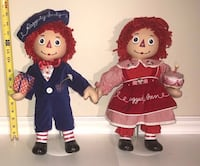 Rare Raggedy Ann Anne and Andy Porcelain Doll With Stand Set $30 for Both Port Saint Lucie, 34953
