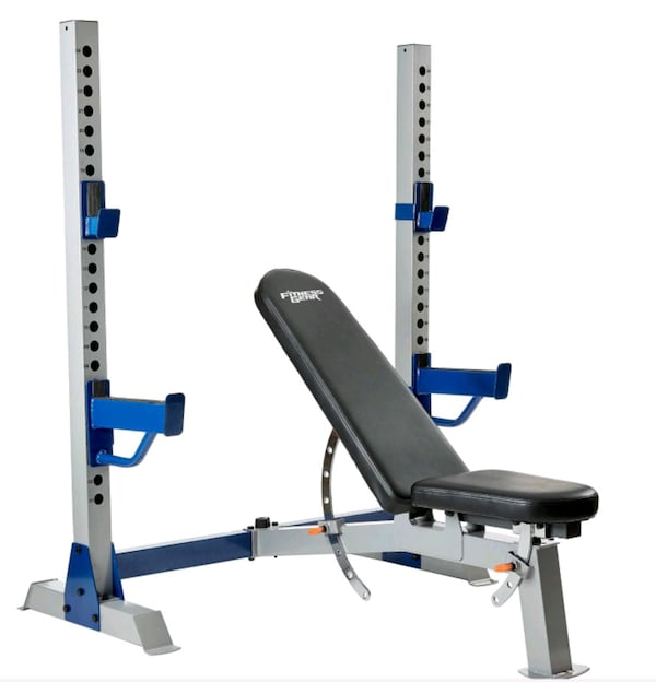 Olympic weight bench and weight plate tree 2