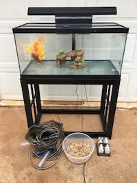 45 Gallon Glass Fish Tank, Stand and Accessories