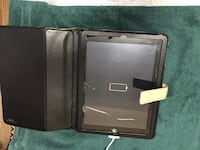 Black ipad 2 with beige leather flip case Kensington, 20895
