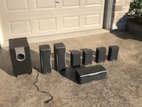HT- SR800 Onkyo 7.1 Channel Home Theater Speaker System w/ powered subwoofer St. Thomas, N5R 6M4