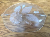 Beautiful crystal leaf shape plate for decor  Brampton, L6R 0S3