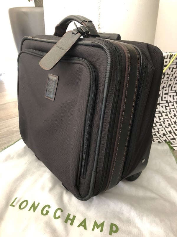 Longchamp Boxford Black trolley Carry On Luggage d977f9dc-f187-4dc2-8037-2c9ab67799a8
