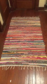 Multi Colored Throw rug 3-5
