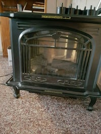 black and gray electric fireplace Markham, L3P 2S4
