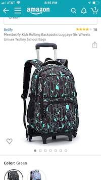 New Rolling backpack/luggage 6 wheels for staircases