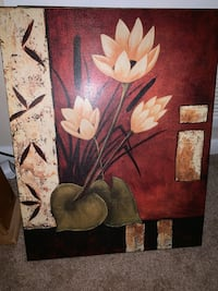 Brown and white flower painting Virginia Beach, 23462