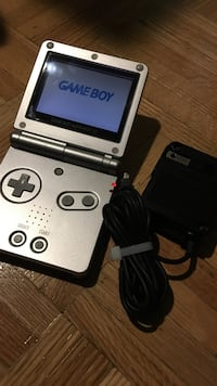 Silver Game Boy Advance SP with charger Toronto, M6M 1G7