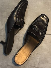Size 10 Madeleine mules with kitten heels, worn maybe twice, just noticed that one heel is missing rubber on bottom, other than that they are in excellent condition  Edmonton, T5K