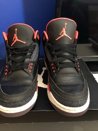 Jordan 3 Crimson size 8.5 $180 OBO (or best offer) Toronto, M6G 3S4