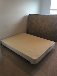 Queen size box spring + metal frame  Frederick, 21703