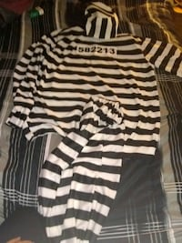 black and white striped long-sleeved shirt Downey, 90239