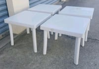 (4) Small Resin Patio Side Table (18 in. X 18) Orlando, 32811