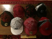 Seven assorted color 59fifty fitted caps Shelton, 06484
