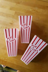 3 Popcorn Containers