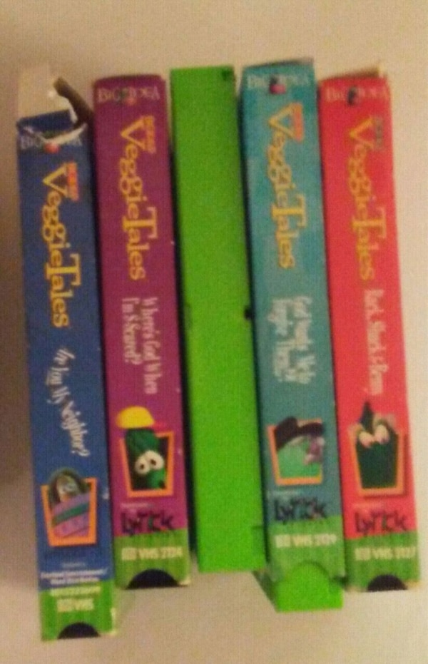 3ffe054165c2 Used 5 Veggie Tales VHS tapes for sale in Grove City - letgo