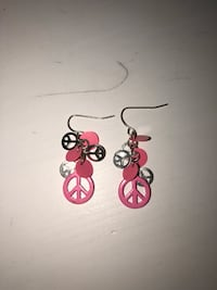 PINK&SILVER DANGLY EARRINGS  London, N5X 0H2