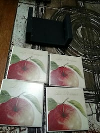 French coasters with holder