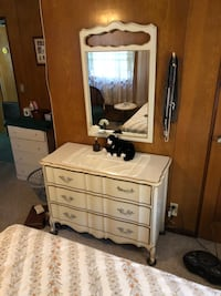 French/provincial 1950's dresser mirror Lincoln, 68510