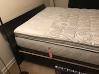 Queen size mattress with free box spring and bed if you want. $100 total. Laurel, 20708