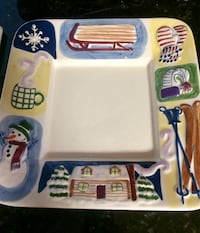Holidays snack serving plates