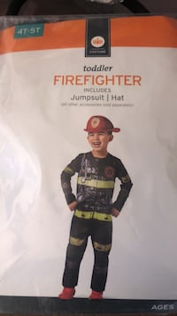 Firefighter costume 4T-5T NEW  Front Royal, 22630