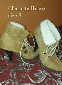 pair of brown suede boots Arlington, 76006