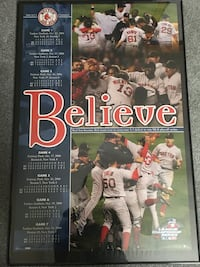 Framed Red Sox 2004 champ poster: Celtics logo