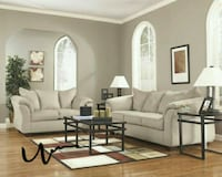 Darcy Stone Living Room Set   Houston