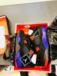 black-and-purple Air Jordan 4 shoes Vancouver, V5V