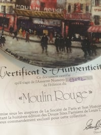 Limoge the moulin rouge very rare collectors okate Abbotsford, V2S 7A4