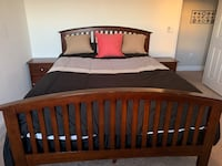 Brown queen bedroom set with free mattress and box spring Land O Lakes, 34639