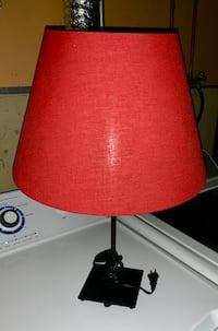 Red lamp shade and Black stand Edmonton, T5A 4M6