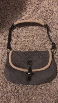 gray and black leather crossbody bag Parkville, 21234