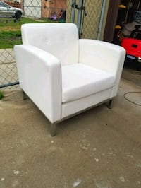 White Color with chrome frame sofa chair  Moreno Valley, 92553