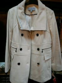 Jacket off white wool blend York
