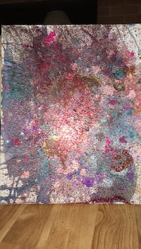 Pomegranate rain by matt k- local abstract artist. great energy.  12 by 20 McLean, 22102