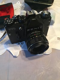 Mint 1960s Zenit TTL 35mm film camera with original case and fresh rolls of film to get shooting! Ottawa, K1H