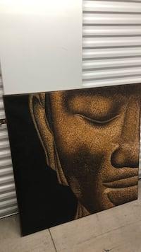 Brown and black acrylic on canvas Buddha painting  Fort Lauderdale, 33304