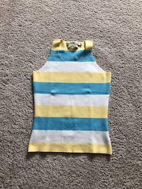 Blue,yellow and white Tommy Hilfiger tank top. Worn once. Size small