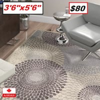 "AJ - BRAND NEW - Cangelosi Gray Area Rug 3'6"" x5'6"" Mississauga"