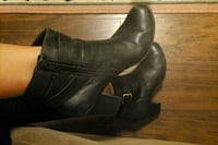 Cole Haan black leather booties 8.5B Falls Church, 22046