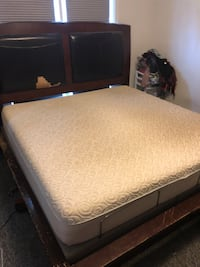 King Sized Tempur-pedic Mattress With Adjustable Massage Frame Ithaca, 14850