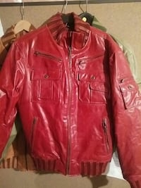 red leather zip-up jacket Brampton, L7A 2Z4