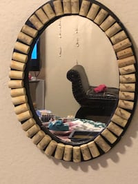 2 foot tall mirror accented with wine corks Lowell, 72745
